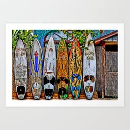 Aloha Y'ALL Art Print