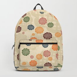 Scumbley Checkered Flowers Backpack