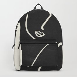 Abstract Face Minimalist Line Drawing Backpack