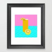 Lemonade /// www.pencilmeinstationery.com Framed Art Print