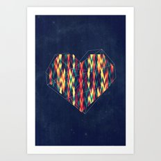 Interstellar Heart Art Print