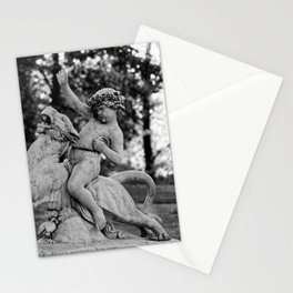riding a lion Stationery Cards