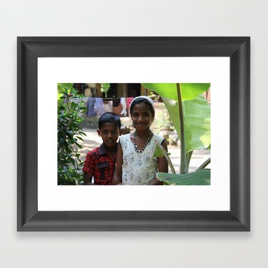Little Faces V Framed Art Print