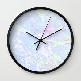 Pastel Blue Graffiti Marble Wall Clock