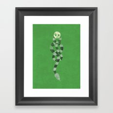 The Scarf Mark - Green and Black Framed Art Print