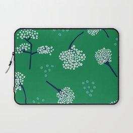 Green Baby's Breath Laptop Sleeve