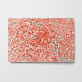 Mexico city map classic Metal Print