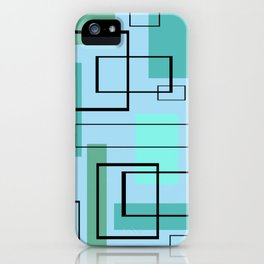 Mid Century Modern Rectangles iPhone Case