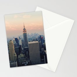New York at Dusk Stationery Cards