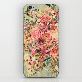 Classy Rococo floral woodpanel iPhone Skin