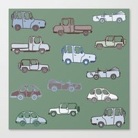 cars Canvas Prints featuring Cars  by Nadezhda Alkimovich