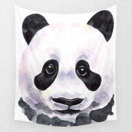 Stylish watercolor panda with sad eyes Wall Tapestry