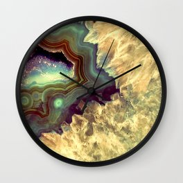 Colorful Earth Tones Quartz Crystal Wall Clock