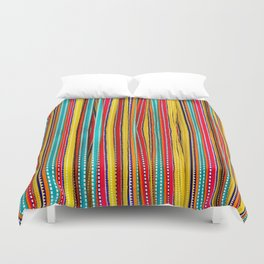 Colored Alignment Duvet Cover