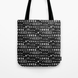 Typography Special Characters Pattern #2 Tote Bag
