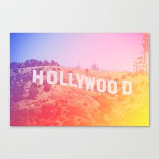 Colorful Hollywood Sign  Canvas Print