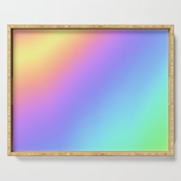 Holographic Foil Multi Colored Pattern Colorful Gradient Abstract Rainbow Serving Tray