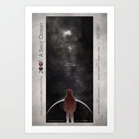 2001 a space odyssey Art Prints featuring 2001: A Space Odyssey by Digital Theory