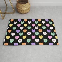 Anti-Valentines Conversation Hearts Rug