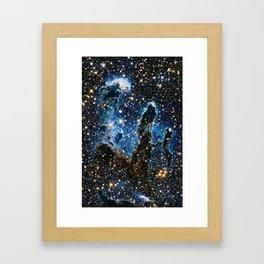Pillars Of Creation Nebula, Galaxy Background, Universe Large Print, Space Wall Art Decor Framed Art Print