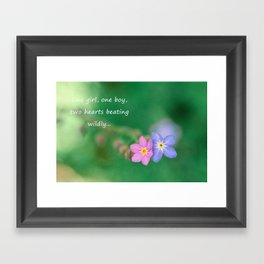 Two Hearts Beating Framed Art Print