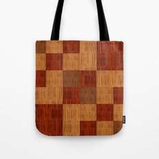 Bamboo patchwork Tote Bag
