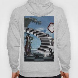 Piano on the beach with clef Hoody
