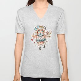 Kawaii Waitress Unisex V-Neck