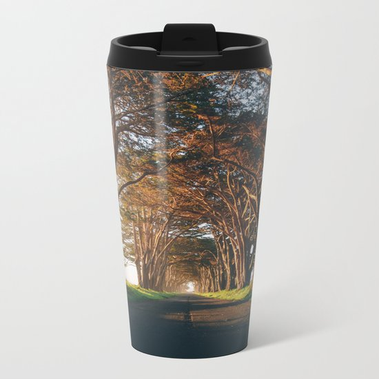 Sunrise at the Tree Tunnel - Point Reyes, California Metal Travel Mug