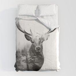 Deer in the woods Comforters