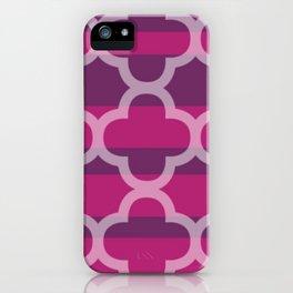 Plum Raspberry Quatrefoil iPhone Case