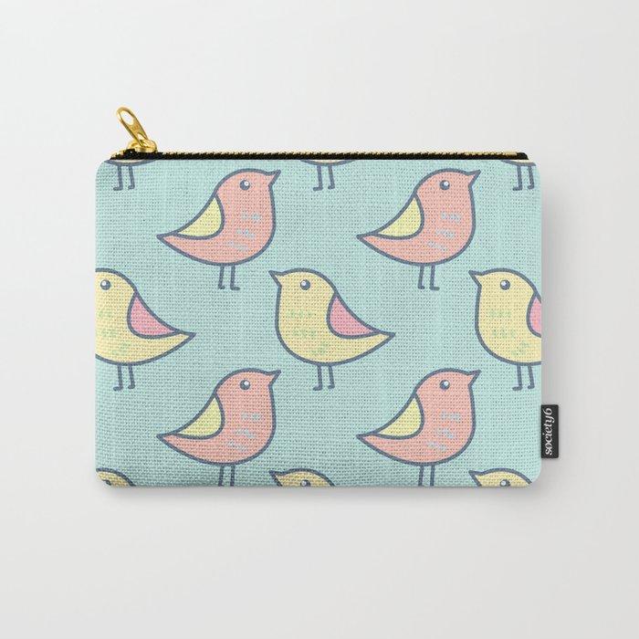 Cute Bird Pattern Carry-All Pouch