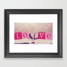 LOVE. Its what makes us, US. Framed Art Print