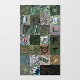 Google Maps Alphabet Canvas Print