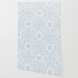 mathematical rotating roses - ice gray Wallpaper