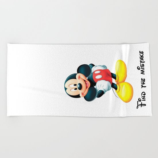 Find the mistake - Mickey Beach Towel