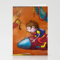 rocket Stationery Cards featuring Rocket by András Balogh