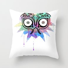 Watercolor's Mask Throw Pillow