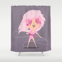 jem Shower Curtains featuring Jem by Rod Perich