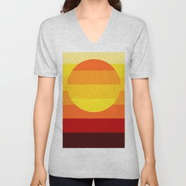 Sunset Stripe Unisex V-Neck