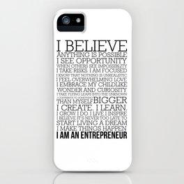 Entrepreneur Manifesto iPhone Case