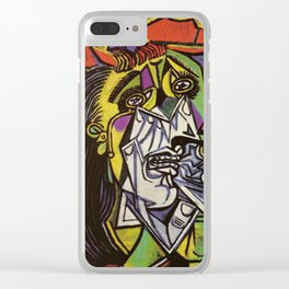 THE WEEPING WOMAN - PICASSO Clear iPhone Case