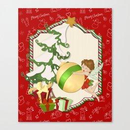 Fairy Merry Christmas Canvas Print
