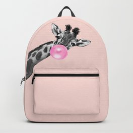 Bubble Gum Sneaky Giraffe Pink Backpack