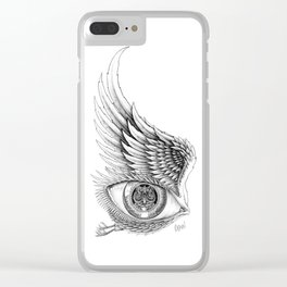 Through the Window the Watcher Came Clear iPhone Case