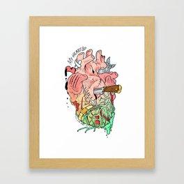 my poor heart Framed Art Print