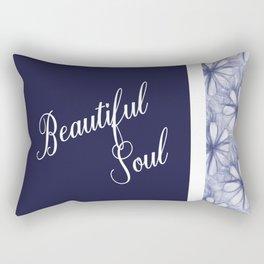 Positive Quote Affirmation Beautiful Soul Rectangular Pillow