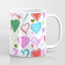 Love, Romance, Hearts - Red Blue Pink Green Coffee Mug