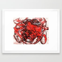 Secret Santa Framed Art Print
