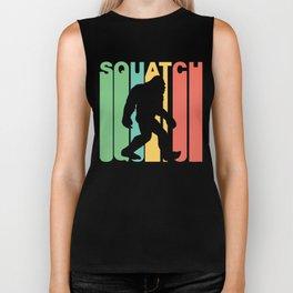 Retro Style Squatch Bigfoot Sasquatch Biker Tank